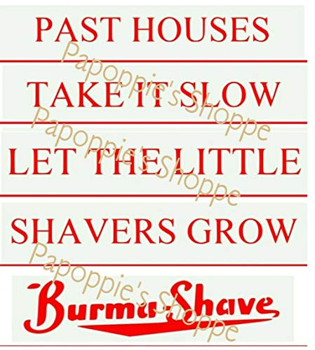 Stencils Set Lot For Burma Shave Signs DIY Vintage