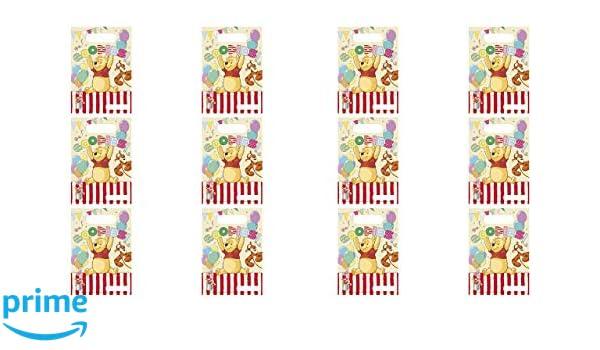 ALMACENESADAN 2583; Pack 12 partybags Winnie The Pooh; Ideal para Fiestas y cumplea/ños
