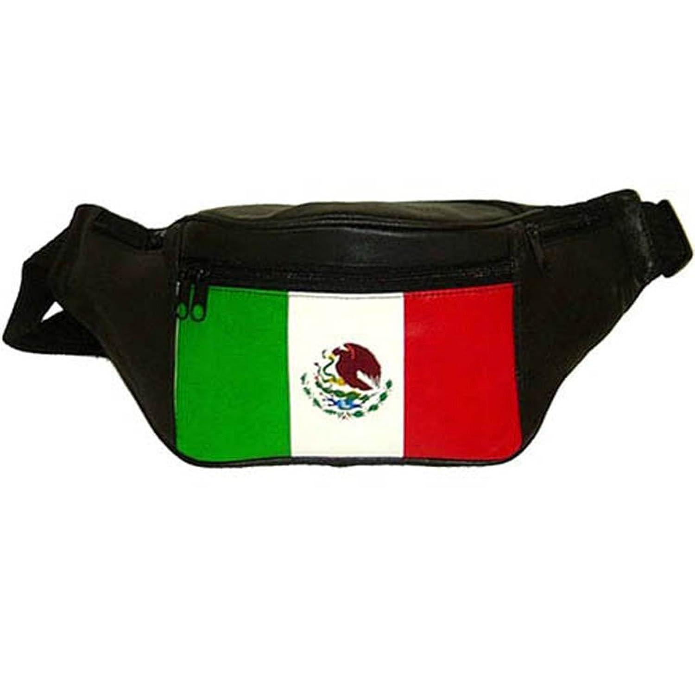 amazon com top grain genuine leather mexican flag waist bag