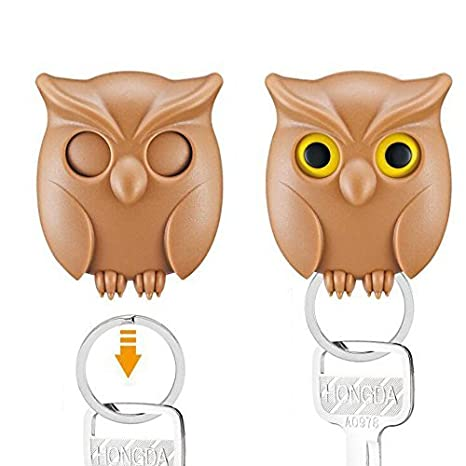 Practical Owl Key Holder Wall Mounted Magnetic Key Holder Home Decor Creative