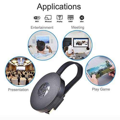 WiFi Display Dongle, Suntee Wireless Display 1080P Mini Receiver Sharing HD Video Support Chromecast Miracast Airplay DLNA TV Stick for Android/Mac/iOS/Windows
