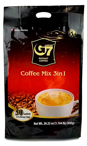 Premium Coffee Sticks - G7 3-in-1 Instant Premium Vietnamese Coffee, 50 Sticks (Pack of 2)