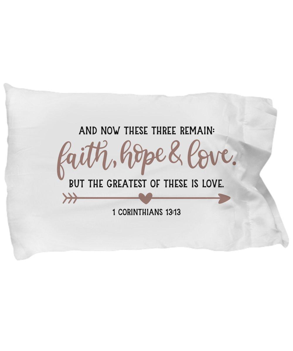 Pillow Case - Christian Inspirational Bible Verse Quotes Sayings - Faith Hope Love - Girls Teens Women Men - Decor Souvenir Home