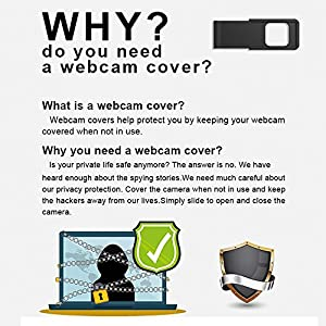 Dostyle Webcam Cover, 3 Pack Ultra-Thin Web Camera Cover Slider for Laptop, Computer, Macbook Pro, Mac, PC, Surface Pro, iPhone and Android Smartphones, Protect Your Privacy and Security
