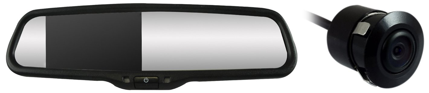 Vission AM-43RVM13 Black 4.3 Factory Replacement Rearview Mirror Monitor
