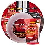 Zak Designs CRSG-0391 Cars 3 Plate-Bowl-Tumbler 3 Piece Window Box Set, Multicolor