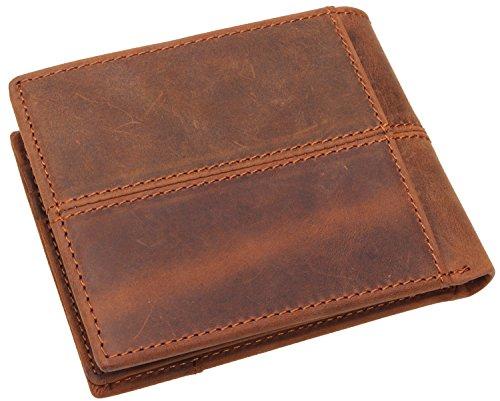 Mens Genuine Leather Slim Billfold Wallet Short Card Holder Purse#Q-064 (Corporate Mens Short)
