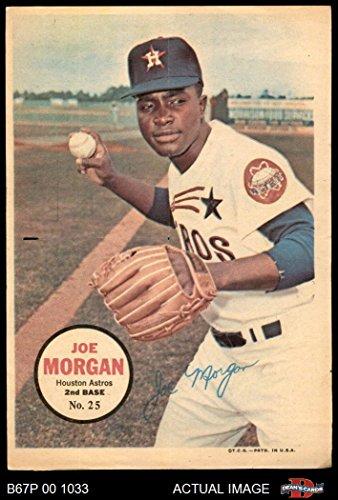 1967 Topps Pin-Ups # 25 Joe Morgan Houston Astros (Baseball Card) Dean's Cards 2 - GOOD Astros ()