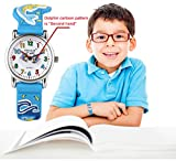 Kid Watch Waterproof 3D Cute Cartoon Digital Silicone Quartz Wristwatch for Little Girl Boy Child Gift