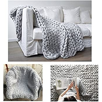 chunky wool blanket hat blanket crochet arm kniting bed throw giant yarn super bulky. Black Bedroom Furniture Sets. Home Design Ideas