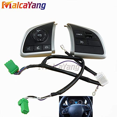Fincos for Mitsubishi Outlander 13-18 Xpander Cruise Control Switch Steering Wheel Control Switch Button Audio Volume Switch ()