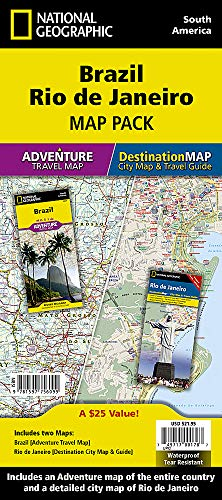 Brazil, Rio de Janeiro [Map Pack Bundle] (National Geographic Adventure Map)...