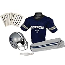 Franklin Sports NFL Dallas Cowboys Youth Licensed Deluxe Uniform Set, Large