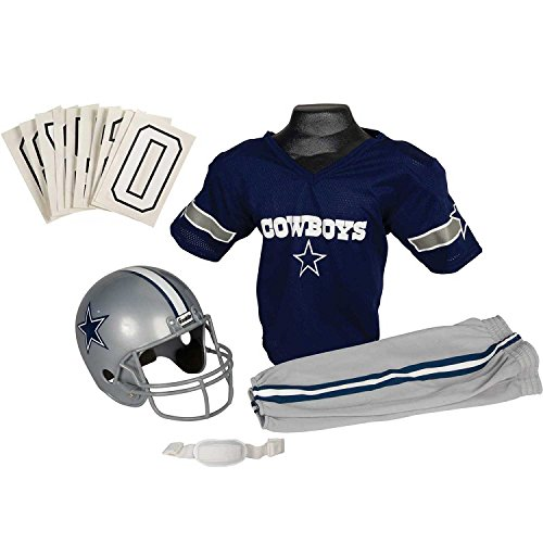 Franklin Sports NFL Dallas Cowboys Youth Licensed Deluxe Uniform Set, Large -