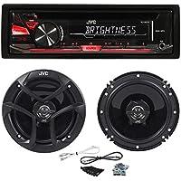 Package: JVC KD-R370 In-Dash Car Stereo CD/MP3 Player Receiver w/Dual Aux Inputs + Pair of JVC CS-J620 Wireless 6.5 2-Way Coaxial Car Speakers Totaling 600 Watt Peak/60 Watt RMS