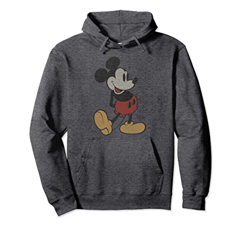 Unisex Disney Classic Mickey Mouse Long Sleeve Hoodie XL Dark Heather for $<!--$44.99-->