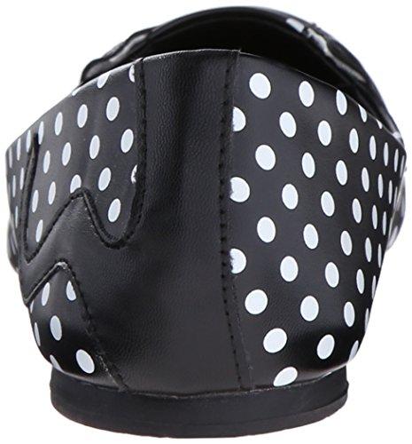 Noir Enduit T Kitty Ballerine u Flat A9009l Black Femme k Dot 1WPwR8q