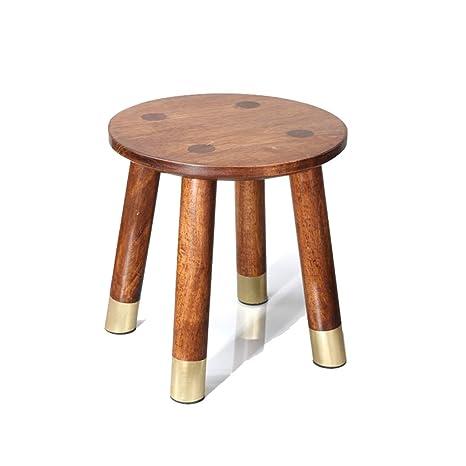 Muebles de Madera de Cobre Silla de Madera pequeña de casa ...