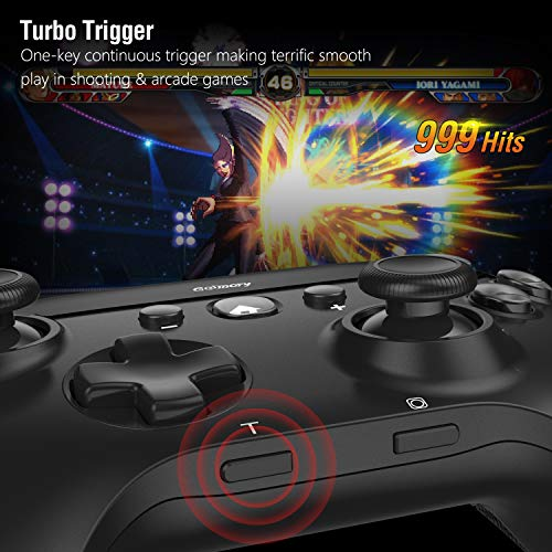Wireless Controller for Nintendo Switch,Gamory Remote Pro Controller Gamepad Joystick for Nintendo Switch Console & PC Windows with Dual Shock & Motion Control, Black