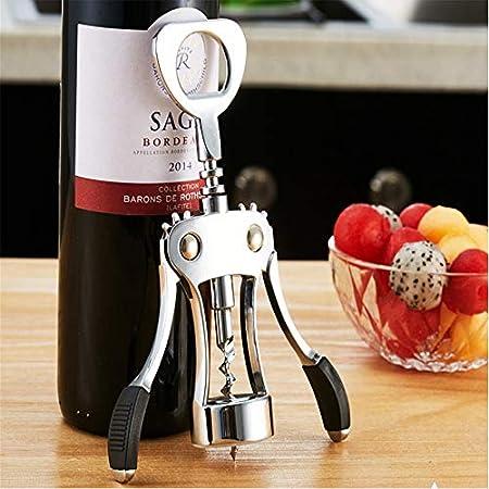 Ryyland-Home Abrebotellas Acero Inoxidable ala sacacorchos abrelatas del Vino Premium Todo-en-uno Vino Sacacorchos y abrebotellas (Color : Silver, Size : One Size)