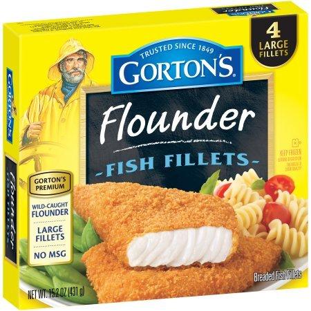 GORTONS SEAFOOD FISH FILLETS FLOUNDER 15.2 OZ PACK OF 2
