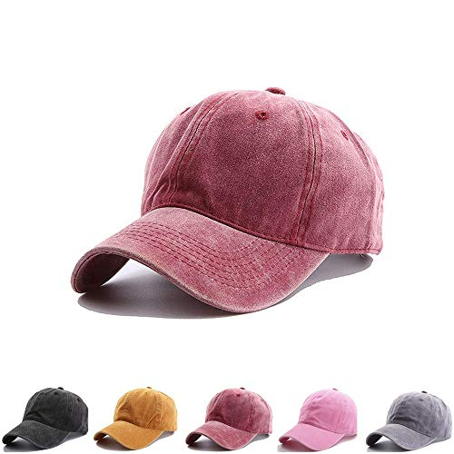 NeuFashion Kids Distresed-Washed Baseball Hat, Infant Toddler Baby Boy Cotton Hats Distresed for 2-8 Years