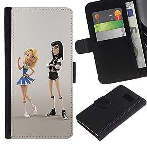 All Phone Most Case / Oferta Especial Cáscara Funda de cuero Monedero Cubierta de proteccion Caso / Wallet Case for Sony Xperia Z3 Compact // punky animadora personaje lucha de dibujos animados