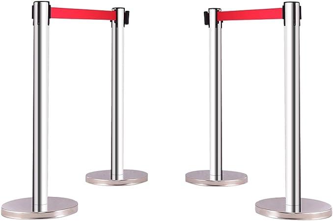 Abgrenzungsständer Airport Ständer 4 x Personenleitsystem Gurtpfosten Absperrung
