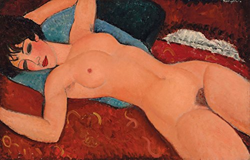 Amedeo Modigliani - Reclining Nude, Size 14x24 inch, Poster art print wall décor