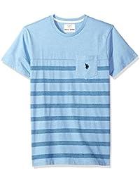 Men's Short Sleeve Crew Neck Striped T-Shirt