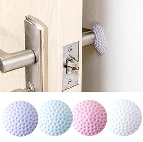 Rubberized Doorway Node - Rubber Door Knob Mute Self Adhesive Elastic Sticker Crash Buffer Protector - Impermeable Access Eraser Threshold Pommel No-Good Galosh Caoutchouc Gum - 1PCs