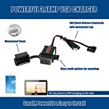 MOTOPOWER MP0609AA 3.1Amp Waterproof Motorcycle USB