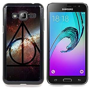 For Samsung Galaxy J3 - Universe Sky Pattern Alien Pattern Star /Modelo de la piel protectora de la cubierta del caso/ - Super Marley Shop -