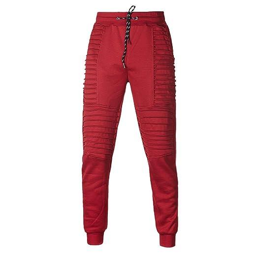 Traje de hombre otoño ❤ Sonnena Pantalones de los hombres de otoño invierno bolsillo superior pantalones conjuntos traje deportivo chándal: Amazon.es: ...