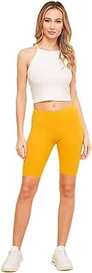 The Classic Women's Stretch Cotton Jersey Bike Yoga Workout Shorts S to 3XL Plus