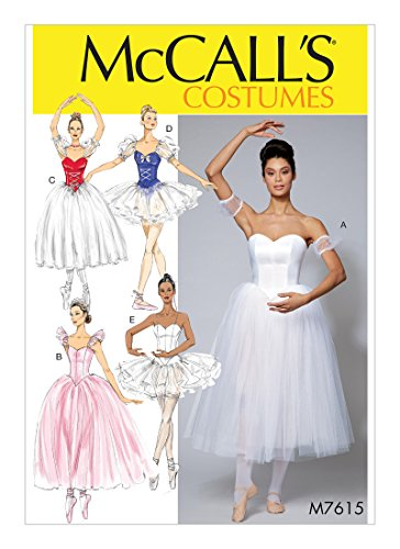 Ballerina Costumes Pattern - McCall's Patterns M7615A50 Ballerina Costume Sewing