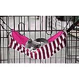 Ninkipet(ニンキペット)キャットハンモック チェア ニャンモック ニャンモック ねこ用ハンモック ペット用品 猫 取り付け簡単 さらさら メッシュ素材 さわやか (ピンクストライプ)