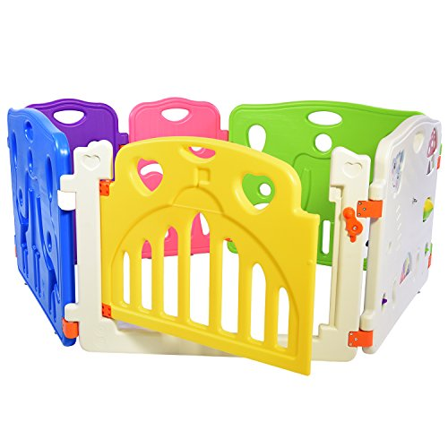 Lil' Jumbl Baby Playpen Extra Part Large (28.5'' x 23.5) - Set of 2 - Blue by Lil' Jumbl (Image #3)