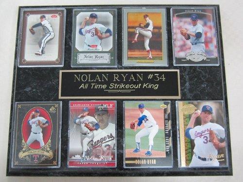 Hall of Famer Nolan Ryan 8 Card Plaque