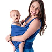 Baby Wrap - Ergo Baby Carrier by CuddleBug - Available in 9 Colors - Baby Sling, Baby Wrap Carrier, Nursing Cover and Baby Slings and Wraps for Infants and Newborn (Blue)