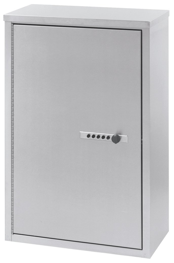 ACS - Narcotic Locking Cabinet 16''W x 8''D x 24''H Stainless Steel 181680