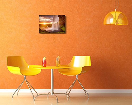 Beautiful Waterfall Seljalandsfoss on The Iceland Home Deoration Wall Decor