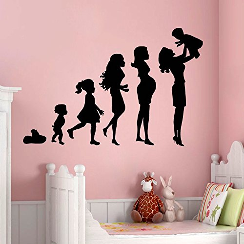 N.SunForest Wall Decals Pregnancy Mother with a Baby Mother'