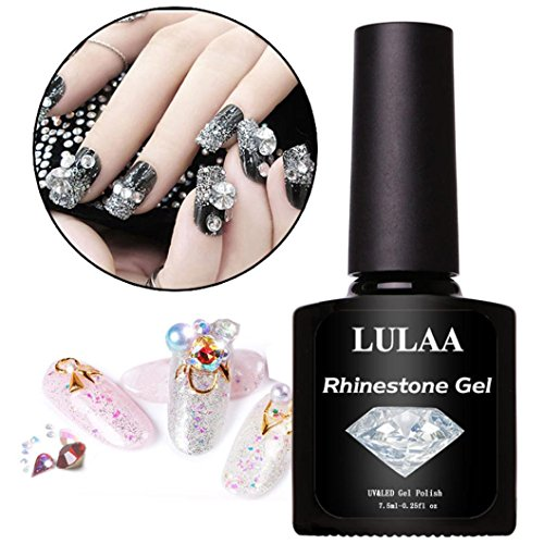 YJYdada DIY Art Nail Polish Glue Rhinestone Adhesives Super Sticky Tools UV Gel