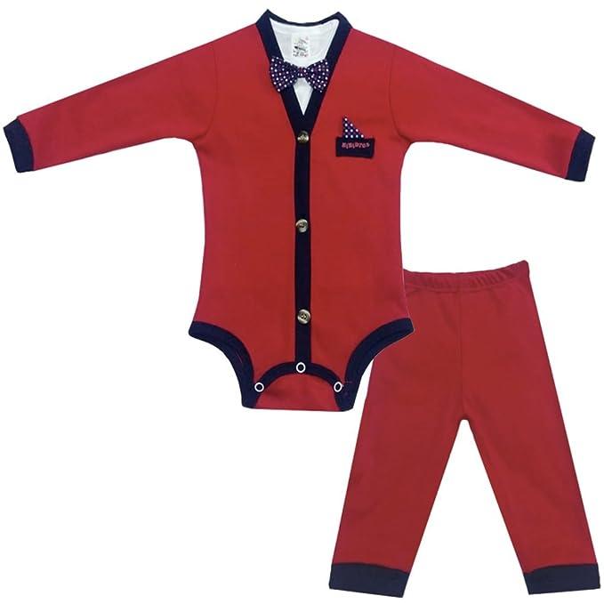 d9483db4e25e2 KIKIDTOS Ropa para bebé Niño - Pañalero Smoking con Moño y Pantalon ...