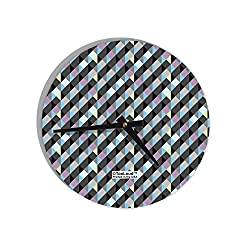 TooLoud Plaid Pattern AOP 8 Round Wall Clock All Over Print