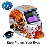 Welding Helmet Auto Darkening Welding Mask Solar Powered Flash welding Hood with Adjustable Shade Range 4/9-13 for Mig Tig Arc Welder