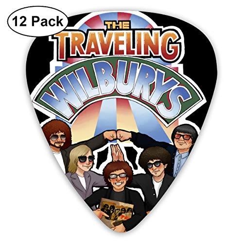 KisdFinda Traveling Wilburys Personality Fashion Guitar Picks Guitar Bass 12 Pack Selection (Traveling Wilburys Guitar)