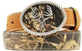 Nocona Boy's Mossy Oak Deer Skull Buckle Belt, Mossy Oak, 24