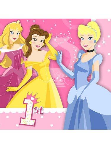 Disney Princess 1st Birthday Large Napkins (16ct)